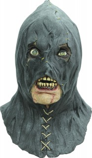 Henker-Zombie Halloween-Maske Kostümaccessoire schwarz-beige-grün