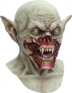 Latex-Maske furchteinflößende Kreatur Kostümzubehör Halloween beige-rot