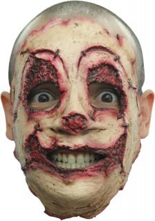 Verätztes Gesicht Latex-Maske Kostümzubehör beige-rot