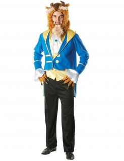 Das Biest Disney Kostüm Märchen Lizenzware blau-gold