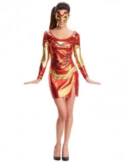Iron Man 3 Superheldin Damenkostüm Lizenzware rot-gold