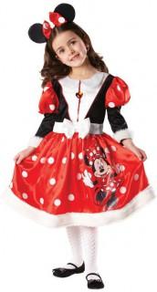 Minnie™-Lizenzkostüm für Mädchen schwarz-weiss-rot