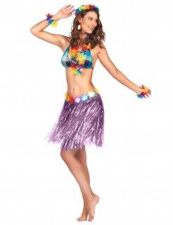 Hawaii Mini-Bastrock Kostümzubehör lila