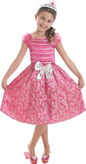 Prinzessin Barbie™ Kinderkostüm für Mädchen mit Diadem Lizenzartikel pink