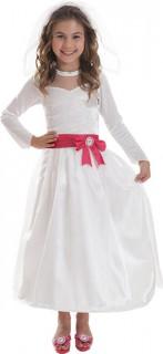 Barbie™ als Braut Kinderkostüm für Mädchen weiss