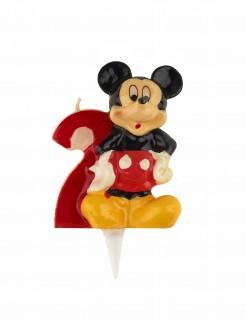 Micky Maus™-Kerze Geburtstagskerze Zahl 2
