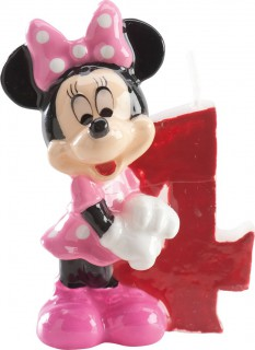 Micky Maus™-Kerze Geburtstagskerze Zahl 4