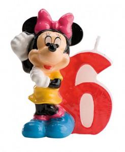 Minnie Maus™-Kerze Geburtstagskerze Zahl 6