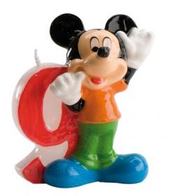 Micky Maus™-Kerze Geburtstagskerze Zahl 9