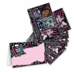 Monster High™ Einladungskarten und Umschläge 4 Stück