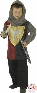 Ritter-Kinderkostüm Mittelalter-Verkleidung grau-rot-schwarz
