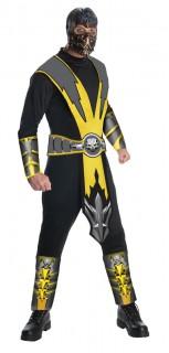 Mortal Kombat Scorpion Lizenzkostüm schwarz-grau-gelb