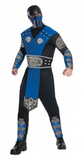 Mortal Kombat Sub-Zero Herren-Kostüm schwarz-blau-silber