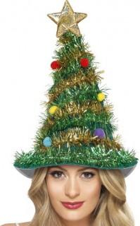 Geschmückter Tannenbaum Weihnachtshut grün-bunt