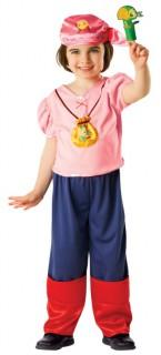 Izzy™ Kinderkostüm für Mädchen Jake und die Nimmerland-Piraten Lizenzartikel bunt
