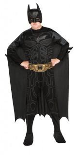Batman™-Kostüm für Kinder Karneval schwarz