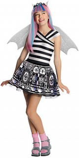 Rochelle Goyle Kinderkostüm Monster High™-Lizenzkostüm schwarz-weiss