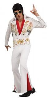 Elvis Presley Kostüm Lizenzartikel Rockstar weiss-bunt