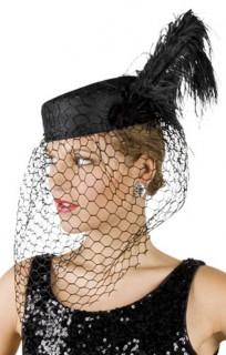 Witwen-Hut schwarz