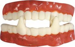 Vampir-Zähne Halloween Accessoire rosa-weiss
