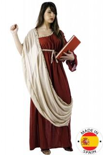 Griechin Damenkostüm Antike rot-creme