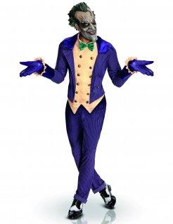 Joker™-Kostüm für Herren Gotham City-Kostüm Lizenzartikel lila-gelb-grün