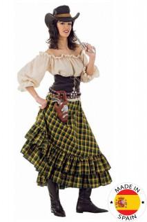 Cowgirl Western Damenkostüm beige-braun