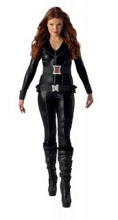 Black Widow™-Damenkostüm Marvel-Lizenzkostüm schwarz