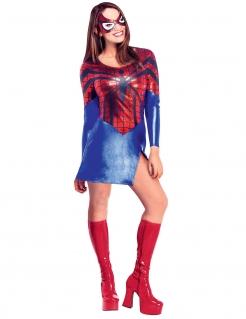 Spider-Girl Superheldin Damenkostüm Lizenzware blau-rot-schwarz