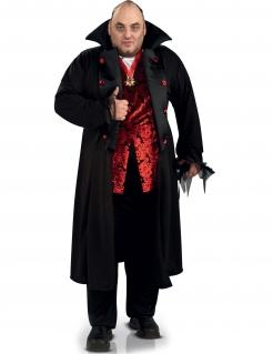 Vampir Halloween-Kostüm übergröße schwarz-rot-weiss
