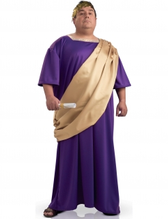 Römer-Kostüm mit Toga Herren lila