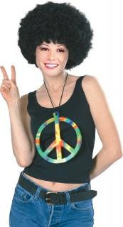 Regenbogen-Hippiekette Peace-Kette bunt 18cm