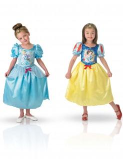 Schneewittchen und Cinderella Mädchen-Wendekostüm blau-gelb