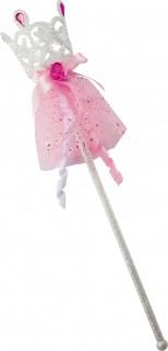 Dornröschen-Zauberstab Mädchen rosa-weiß