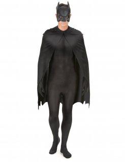 Batman-Kostümset mit Umhang und Maske schwarz