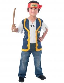Jake und die Nimmerland-Piraten Kostüm-Set für Kinder Lizenzartikel bunt