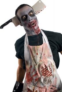 Halloween Haarreif blutige Axt Accessoire schwarz-silber-rot