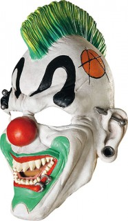 Halloween Punk Horrorclowns-Maske weiss-bunt