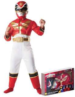 Power Rangers Red Power Ranger Megaforce Kinder Kostüm Lizenzware rot-weiss-gold