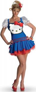 Hello Kitty™-Kostüm für Erwachsene Lizenzkostüm