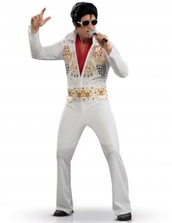 Schickes Elvis Presley-Erwachsenenkostüm weiss