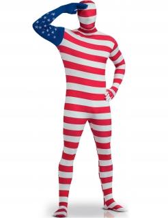 USA-Flaggen-Kostüm USA-Anzug rot-weiss-blau