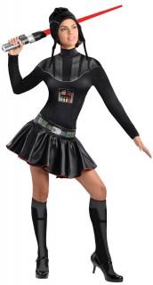 Original Star Wars Darth Vader Damenkostüm Lizenzware schwarz-silber