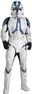 Klonkrieger Deluxe Kinderkostüm Star Wars™ schwarz-weiss-blau