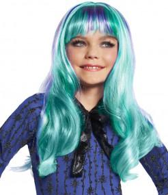 Monster High Twyla 13 Wishes Kinder Perücke Lizenzware türkis-lila