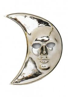 Mond-Maske silber