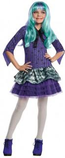 Monster High Twyla Mädchen-Kostüm Lizenzkostüm 2-teilig lila-weiss-schwarz