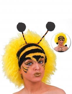 Bienenperücke Kostümaccessoire für Erwachsene schwarz-gelb