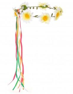 Margeriten-Blumenkranz Haarschmuck bunt