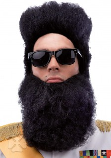 Langer Diktatoren-Bart schwarz